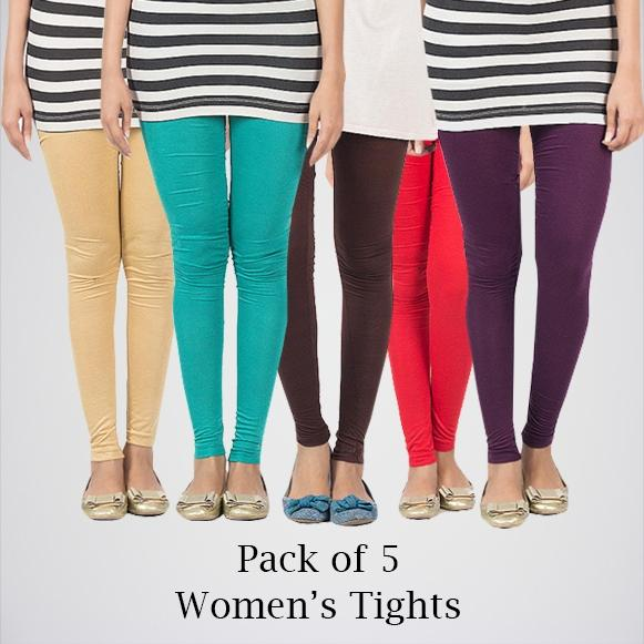 Pack Of 5 Cotton Tights. AJ-0109