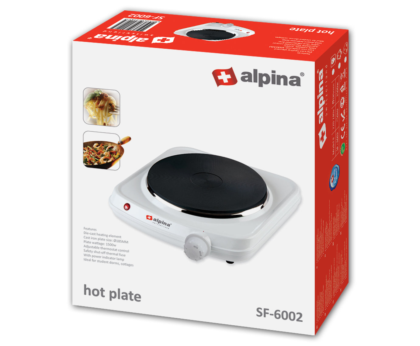 Alpina Single hot plate SF-6002