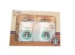 Star Bux 2 Mugs 2 spoons set