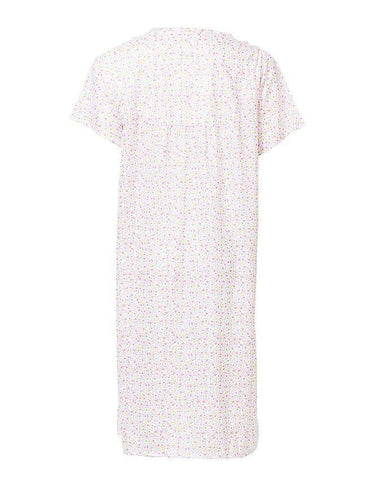 Cotton Floral Nightwear For Women Pink
