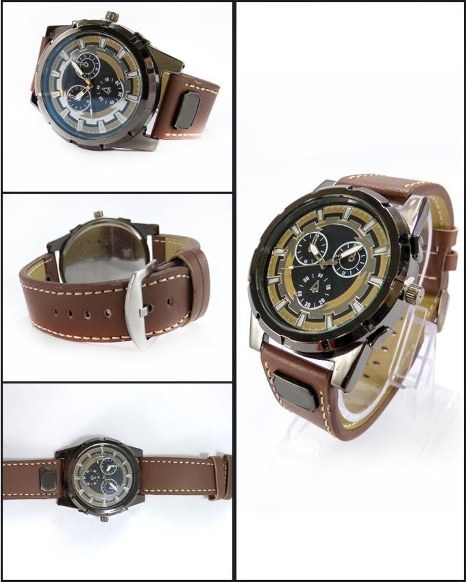 Brown Leather Strap Watch for Men. WS-403