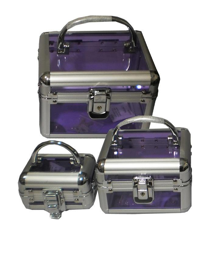 3 in 1 jewelry and Storage box - Purple