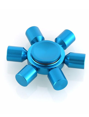 Electrotech Spinner-Six Side Solid Metal-Blue