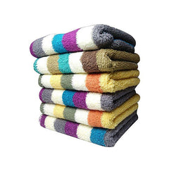 Pack of 12 Unique design face towels 30x30 Random colors