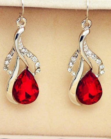 Rhizmal Kenneth Sterling Silver Jewellery Set - Red