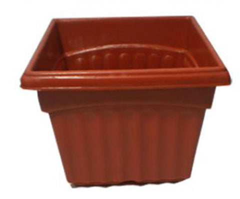 Pack of 6 - Square-Shaped Pots - Brown