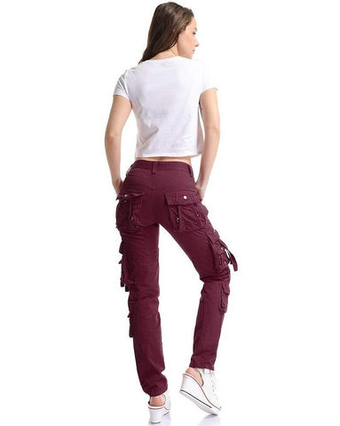 Prime Ladies Cargo Trousers Jeans Pants Gk-01