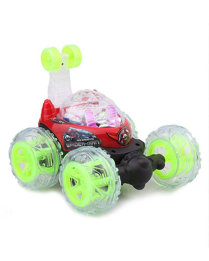 9802 -  Stunt Remote Control Car - Red & Green