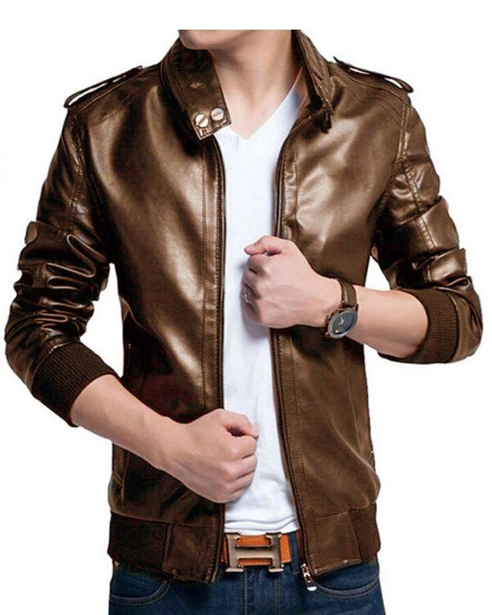 Mustard Leather Jacket For Men