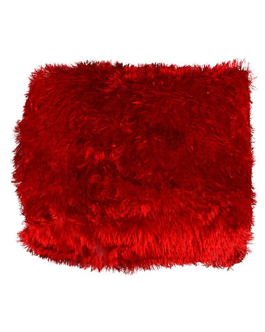 Plush Fluffy Square Cushions Ball Fiber Filled Soft Plush Fur Pillow Cushions For Sofa Chair Car Home