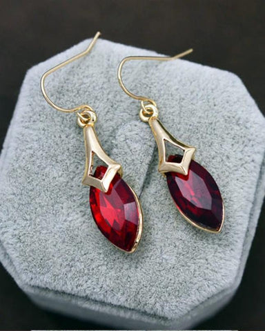Rhizmal Red Gold Plated on Zinc Alloy Cubic Crystal Jewellery Set