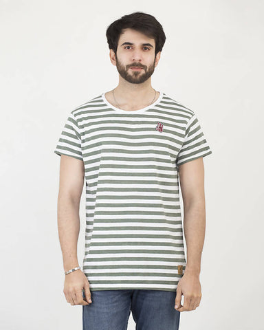 Crafted Mens Pine Stripe Tee