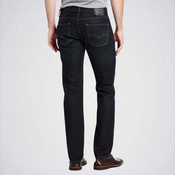 Men's Black Slim Fit Jeans. Aj-Bl01