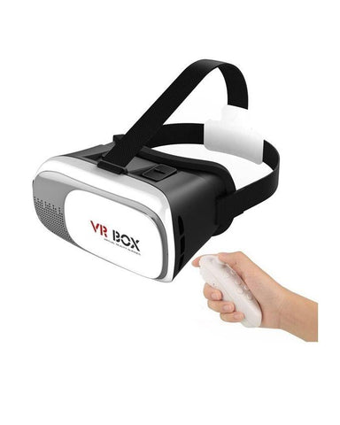 Electrotech Virtual Reality Glasses & Bluetooth Gaming Remote Controller-White