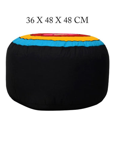 Colorful Round Shape Stool Circles Fabric Bean Bag