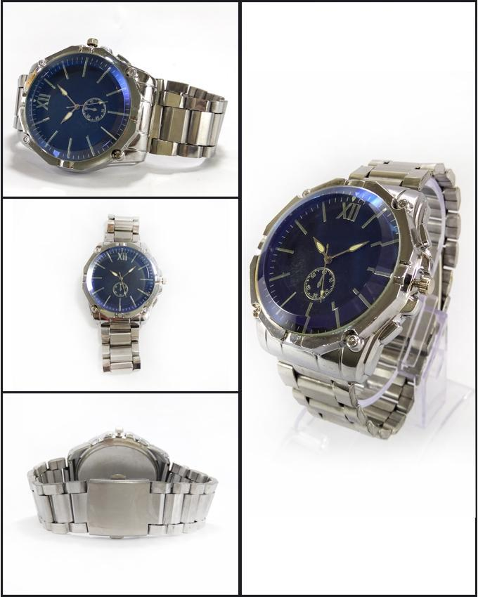 Silver Stainless Steel Watch For Men. WS-100