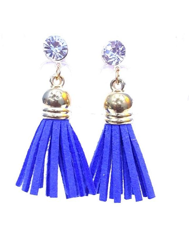 Fashion Infinity Blue Tussles Earrings For Women