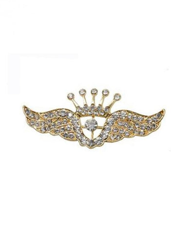 Crystal Rhinestone wing brooch lapel pin for men and women