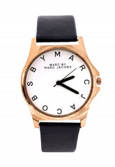 Stylish Black strap watch -mj