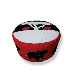 Elephant Foot Stool Bean Bag - Red