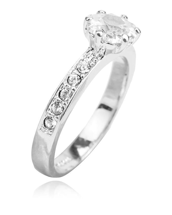 Pack of 3 Round CZ Diamond Paved Engagement Ring
