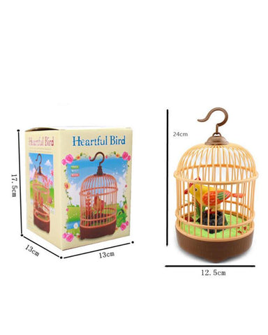 Battery-Operated Parrot's Bird Cage