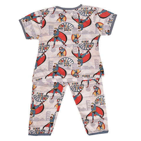 Pack of 2 Pure Cotton Night Suit (Pajama + Tshirt) for Boys - Batman UG-419-6