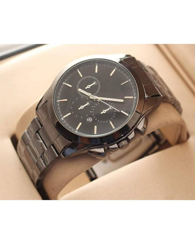 Black Stainless Steel Watch For Men. WS-209