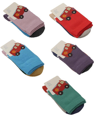 Pack of 5  Soft Cotton Lycra Socks for Babies (0 - 12 Months)  Multicolour