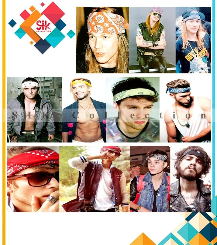 Pack Of 6 - Multicolored Cotton Bandanas For Men's