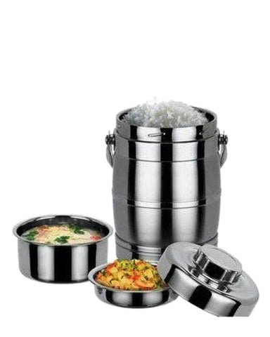 Tiffin Box- Stainless Steel - Silver
