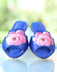 Synthetic Blue Chappals For Women