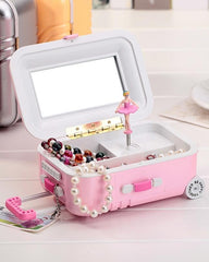 Trolley Travel Bag Music Jewelry Box