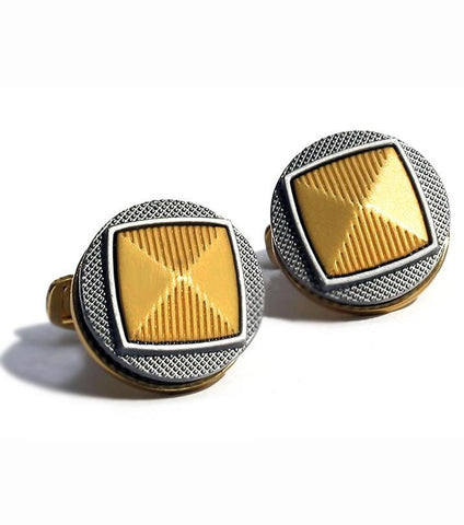 Rhizmal Gunmetal Gear High Quality Gold Cufflinks