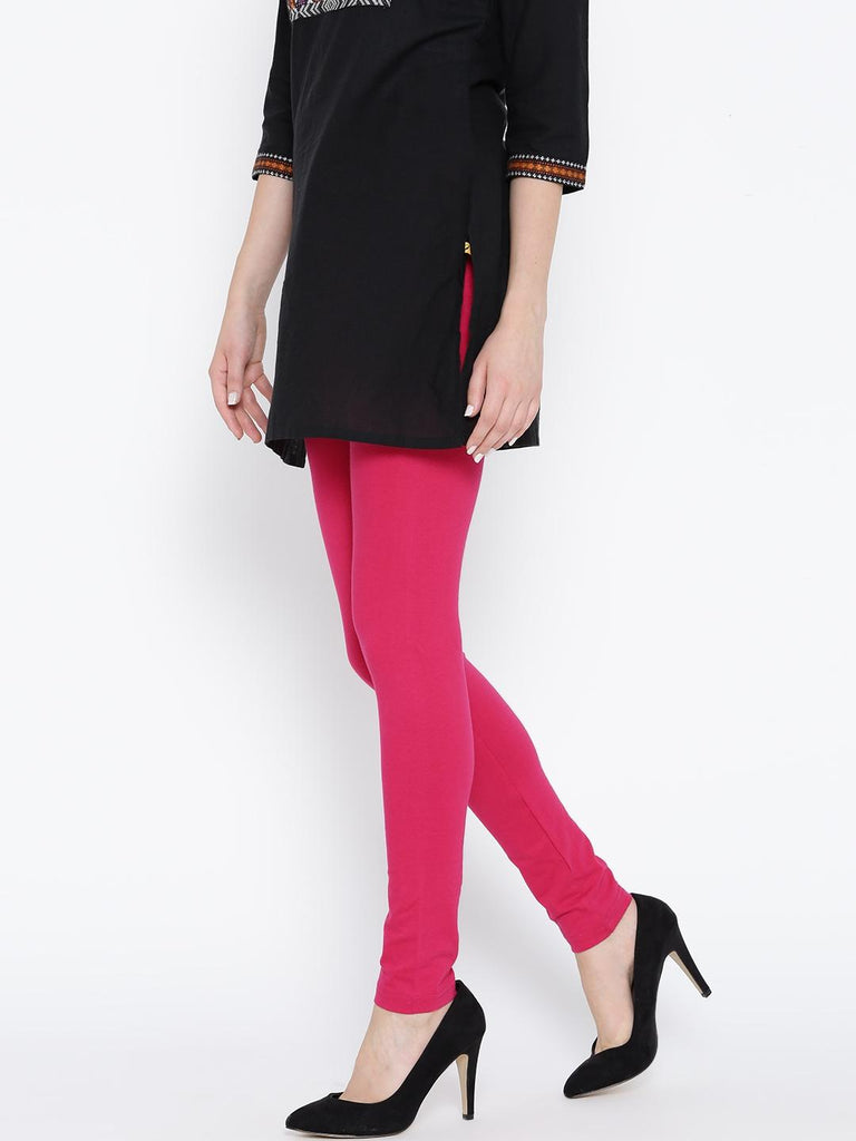 Women's Pink Viscose Comfortable Tights. KTY-T247