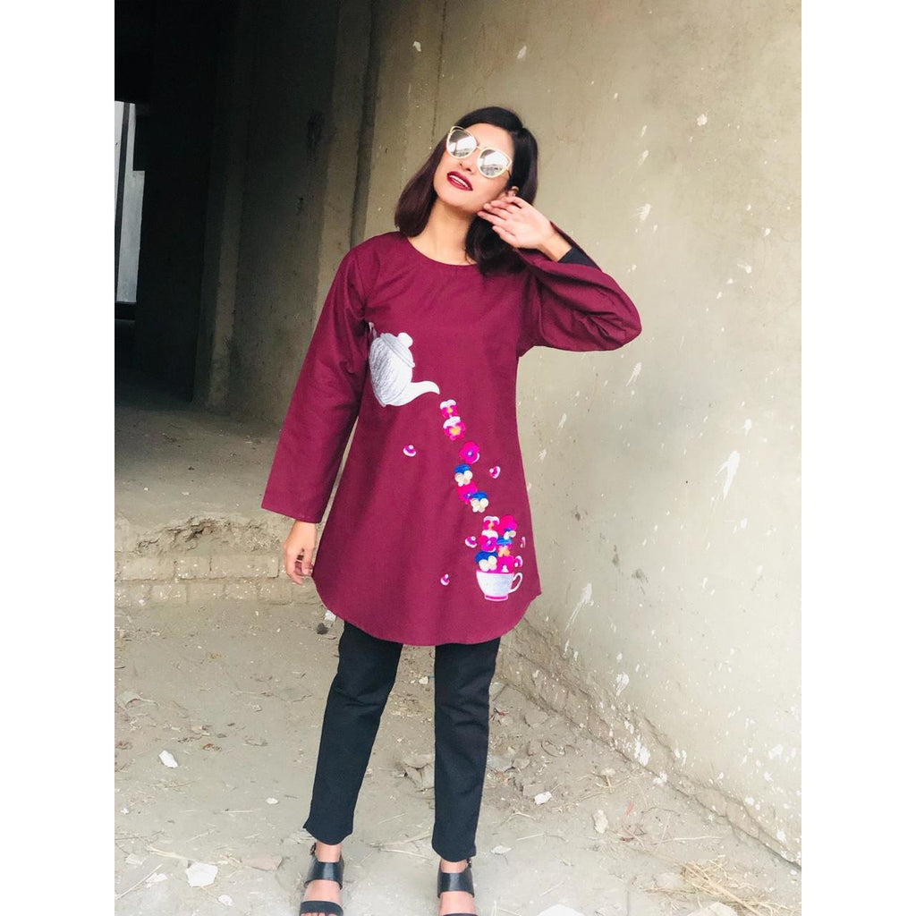 Colourful Embroidery Shirt