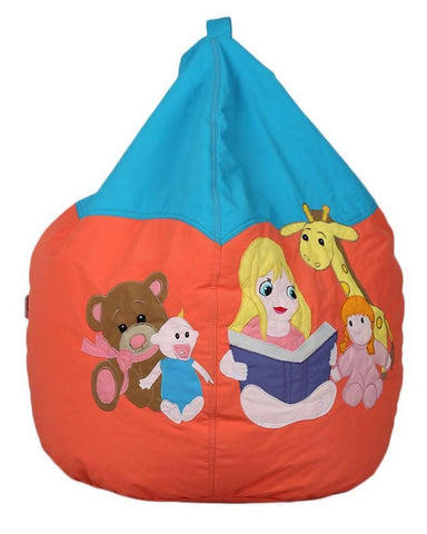 Relaxsit Toddler Bean Bag Embroidered - Orange