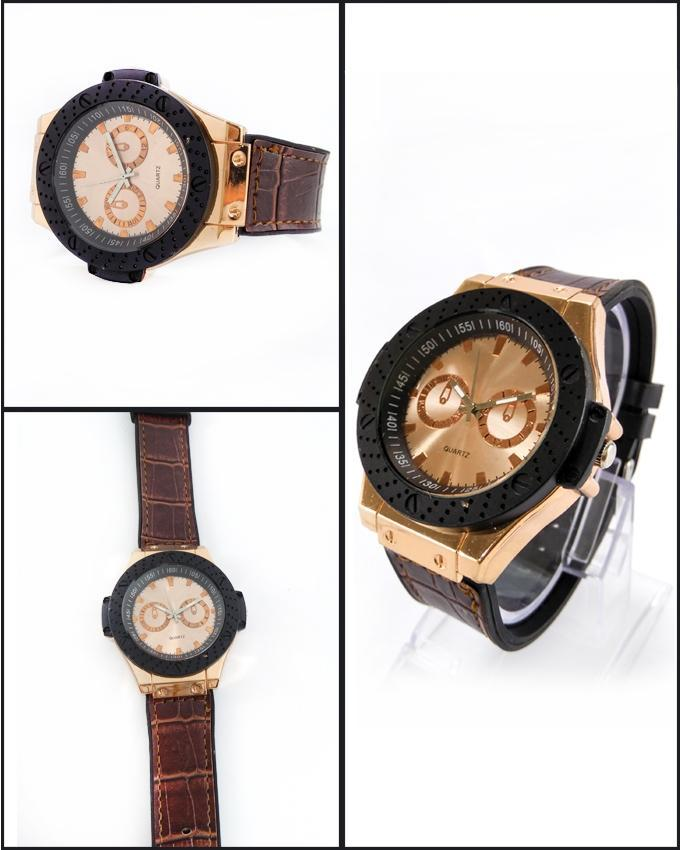 Brown Leather Strap Watch For Men. WS-114