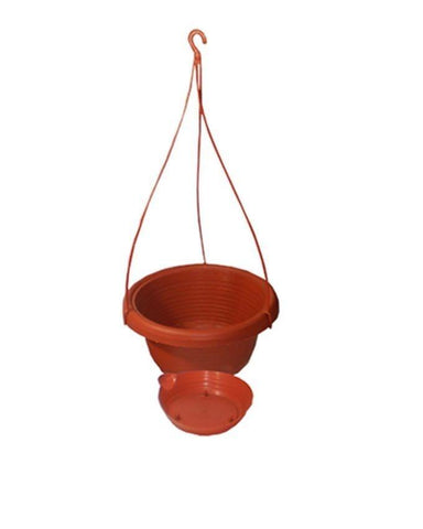 Pack of 6 - Hanging Flower Pots - Red