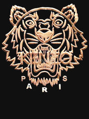 Farhan Ahmed Sweat Shirt Kenzo tiger gold WOMEN HOODIE BLACK