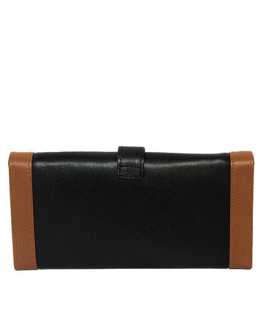 Black & Brown Leather Wallet for Women - DF445