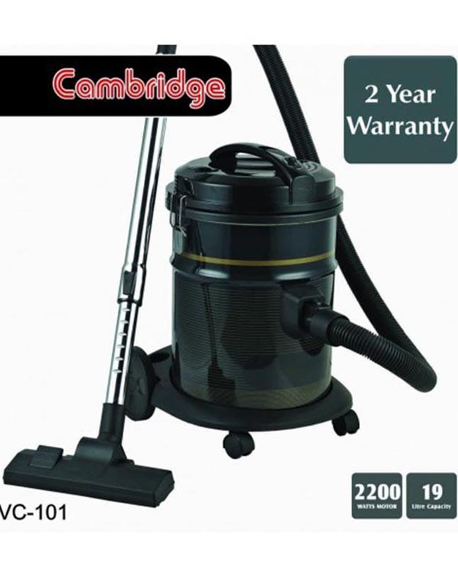 Cambridge VC 101 Drum Type Electric Vacuum Cleaner - Black