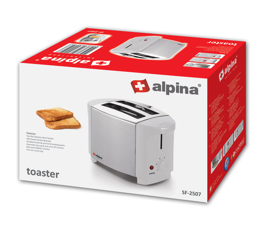 Alpina 2 Slice S.S Toaster SF-2507