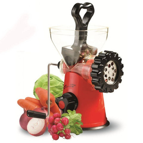 Home Manual Hand Juicer+Meat Mincer-Anex AG-13 Red & Black-9910B