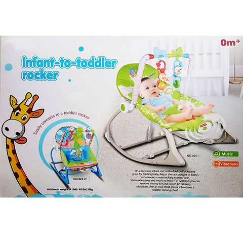 Infant To Toddler Rocker Musical Swinging Bouncer Chair Toddlers Vibration Comfortable Safety Rocker 5011