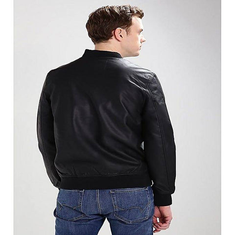 Men's Slim Fit Pu Leather Jacket B4