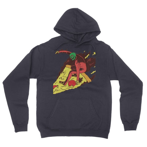 Virgin Teez Pizza Surf  California Fleece Pullover Hoodie