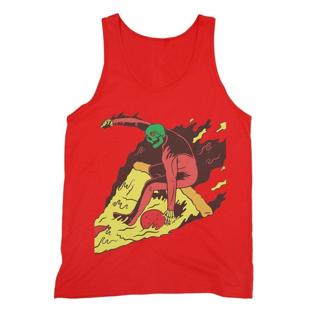 Virgin Teez Pizza Surf  Fine Tank Top