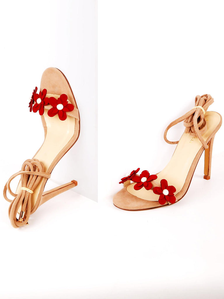 Red Flower Heel