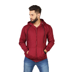 Mehroon Color Hoodie  For Men